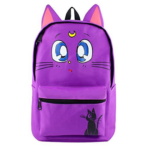 GD-SJK Sailor Moon Luna Zaino Scuola Bookbag Anime Giapponese Zaino Scuola Ragazzi Viaggiare Campeggio Outdoor