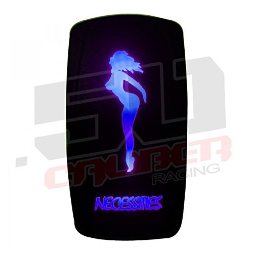 Rocker Switch ON/Off Blue LED Backlit - Necessities - UTV, Auto, Boat [5359-A5]