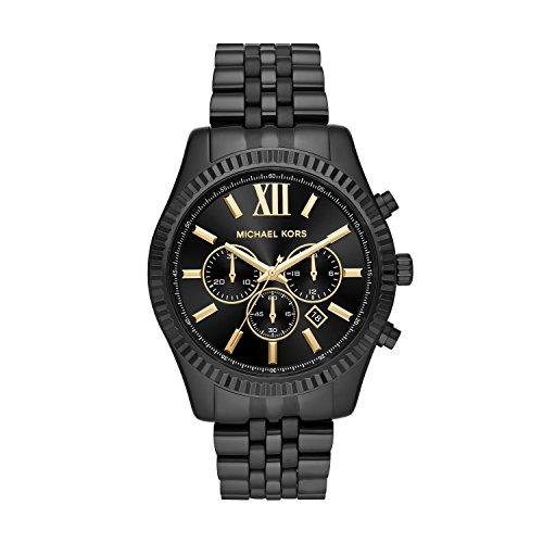 Michael Kors Herren Chronograph Quarz Uhr mit Edelstahl Armband MK8603