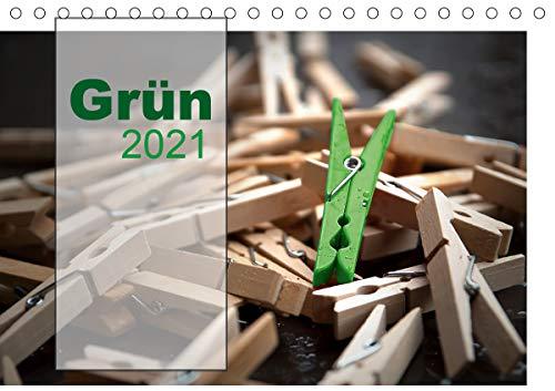 Grün/Geburtstagskalender/Terminplaner (Tischkalender 2021 DIN A5 quer)