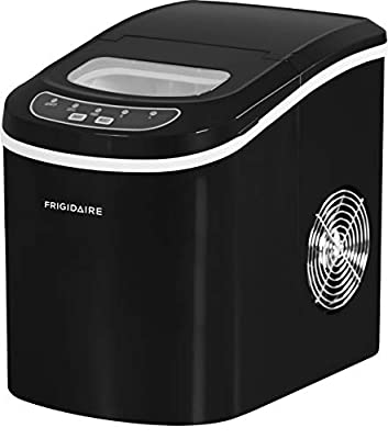 Frigidaire EFIC101-BLACK Portable Compact Maker, 26 lb per Day, Ice Making Machine, Black