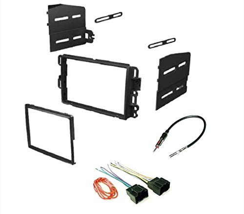 ASC Car Stereo Dash Kit, Wire Harness, and Antenna Adapter Combo to Add a Double Din Radio for some Buick Chevrolet GMC Pontiac Saturn- most 2007-2011 Tahoe, Silverado, Suburban etc.- Listed below