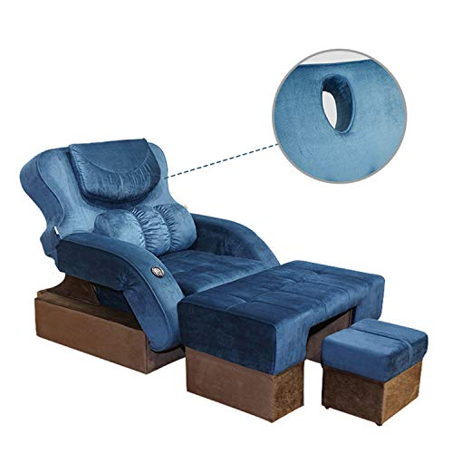 YUYTIN Masaje de pies Ajustable Sofá Electric Pie Lavado Ciudad Pedicura Pedicura Sofá Reclinable Foot Bath Leisure Club Sofá Cama Silla Caja Plegable Chaise Lounge Soltero,A,195CM×45CM×93.5CM
