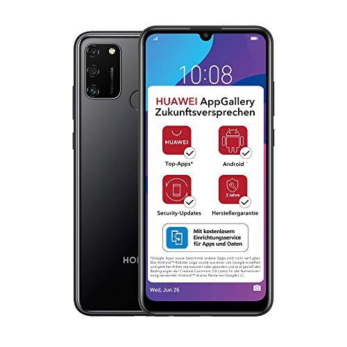 HONOR 9A Dual-SIM Smartphone - Midnight Black (6,3 Zoll Display, 64 + 3GB, Android 10 AOSP ohne Google Play Store, Magic UI 3.1) + 13MP Triple-Kamera + 8MP Frontkamera – Deutsche Version