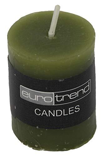 Kaheku cilinder kaars donkergroen Euro Trend Candles diameter 3,8 cm x 5 cm
