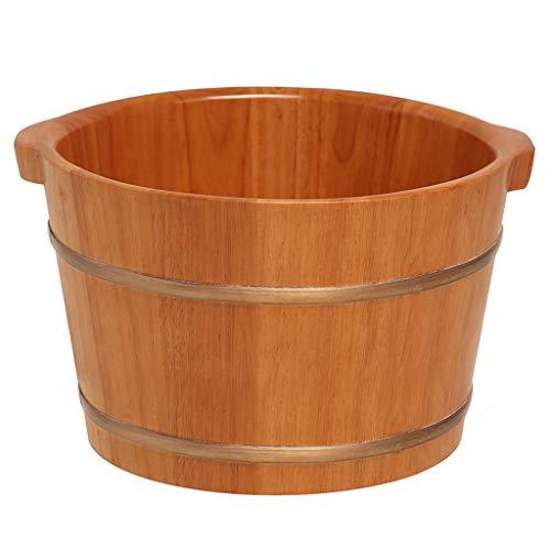 Jlxl Houten voetbad van eiken warmwatervat gezondheid sauna wassen voor het baden bad corrosiebescherming duurzaam en sterk