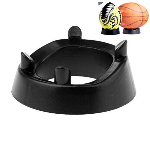 FLAMEER Bowling Cups Ballhalter Kicking Tee für American Football Basketball Fußball - Schwarz