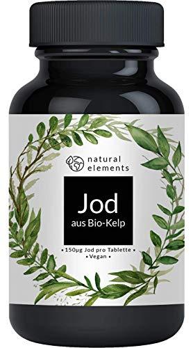 Bio Kelp (Natürliches Jod) - 365 Tabletten mit je 150µg Jod aus Bio-Braunalgen - Ohne unerwünschte Zusätze - Hochdosiert, vegan