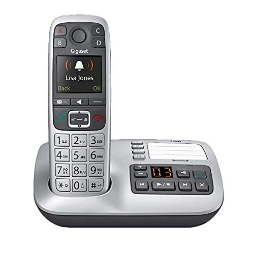 Gigaset E560A – Cordless Phone for Seniors with Answering Machine and SOS...
