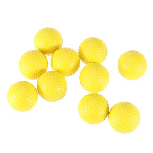 WINOMO Golfbälle, weich, elastisch, für den Innenbereich, Schaumstoff, Gelb, 10 Stück