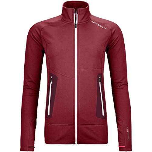 ORTOVOX Damen Fleece Light Jacke, Dark Blood, S
