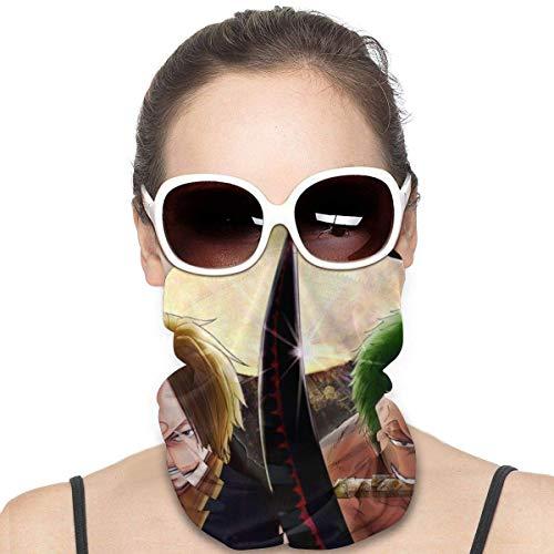 Not Applicable Windproof Face Guard,O-N-E Pie-CE Sanji and Roronoa Zoro Neck Band, Bandas para La Cabeza A Prueba De Rayos UV para El Senderismo Caza Ciclismo,25x50cm