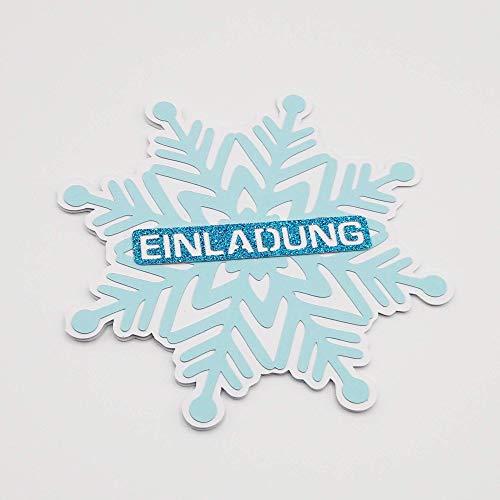 3 EINLADUNGEN SCHNEEFLOCKE EISKRISTALL Kindergeburtstag Mädchen Geburtstagsparty Winter handmade by AniPolDesign in Hamburg