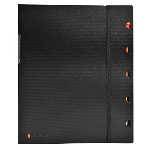 Exacompta 85434E - Pack de 40 fundas, A4, color negro