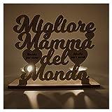 Portacandele Personalizzato Incisione Mamma Migliore del Mondo regalo originale speciale