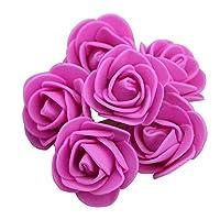 造花 100ピース3.5cm人工フォームローズヘッドフラワー (Color : Rose)