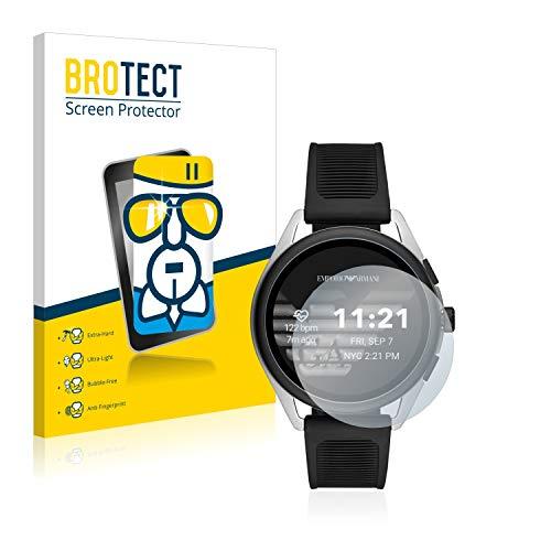 BROTECT Panzerglas Schutzfolie kompatibel mit Emporio Armani Connected Smartwatch 3-9H Extrem Kratzfest, Anti-Fingerprint, Ultra-Transparent