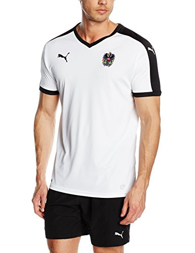PUMA Herren Trikot Austria Away Replica Shirt, White-Black, S