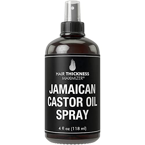 Organic Jamaican Black Castor Oil Spray For Hair Growth. Pure + Unrefined Extra Dark Tropical Oils For Thickening Hair, Eyelashes, Eyebrows. Avoid Hair Loss, Thinning Hair for Men + Women Cold Pressed
