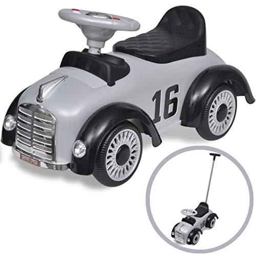 vidaXL Rutschauto mit Schubstange Retro Kinderauto Rutscher Kinderfahrzeug