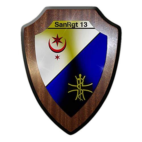 Copytec Wappenschild SanRgt 13 Sanitätsregiments Halle Bundeswehr Sani Wappen #22928