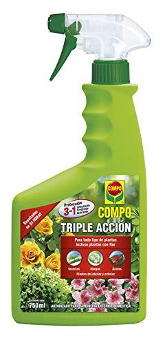 Compo Triple Acción Protección contra Insectos, Hongos y ácaros, para Plantas de Interior y...