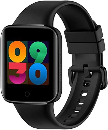 Reloj inteligente, pulsera inteligente de temperatura corporal, rastreador de fitness multideporte, reloj de fitness, monitor de sueño, reloj de hombre, color negro
