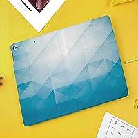 iPad Mini ①/②/③ ケース 超薄型 超軽量 TPU ソフト PUレザー スマートカバー 二つ折り スタンド スマートキーボード対応 キズ防止 フラクタルモザイクの線と三角形のオンブレ色