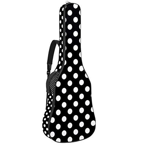 Mochila con diseño de lunares para guitarra acústica con acolchado grueso {name} funda para guitarra acústica, bajo eléctrico y guitarra.