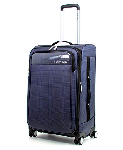 Calvin Klein Glen Expandable Softside Spinner Luggage, Dark Navy