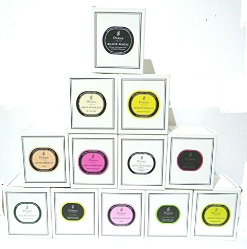 Parks London Aromatherapy Ultimate Candle Collection - 12 Assorted Scented Candles - 30cl - White Gift Boxed