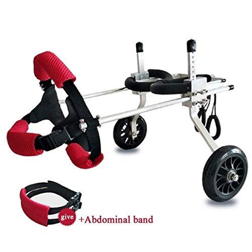 Kays Hund Rollstuhl Hund Rollstuhl Hind Beinstütze Stuhl Verstellbarer 2 Räder Wagen Rehabilitation Behinderter Mobility Harness Gehhilfe Hundegehilfe (Size : XXS)