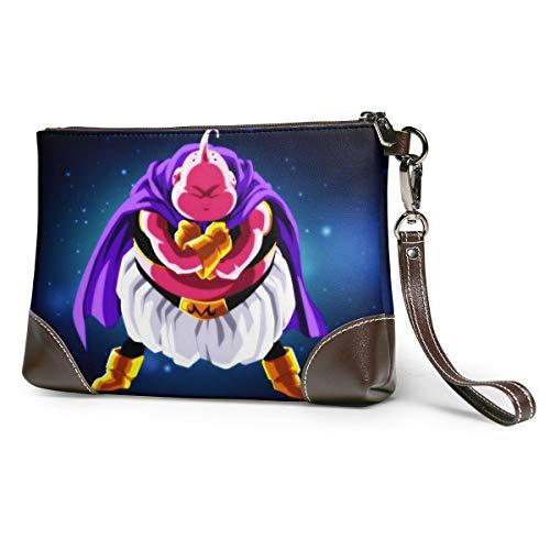 Dragon Ball Super Majin - Bolso de mano para mujer y hombre (piel, cierre de cremallera)