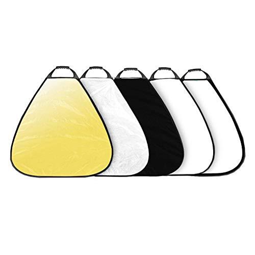 Selens 5-in-1 80cm Dreieck Reflektor Tragbarer Faltbarer für Fotografie Fotostudio Beleuchtung und Außenbeleuchtung