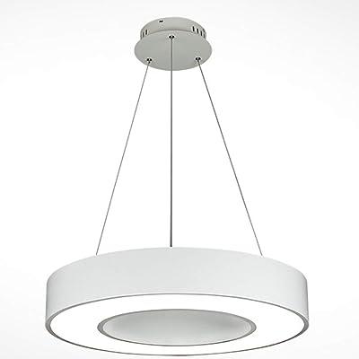 LED lámparas colgantes moderna hueco redondo Iluminación ...