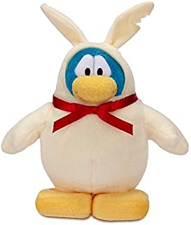 "Disney Club Penguin 6"" Chocolate Bunny Penguin Plush"