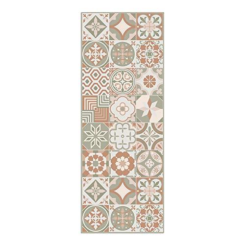 Alfombra Vinílica, 120 x 45 cm, Baldosas, Alfombra de Vinilo para Salón, Cocina, Baño y Pasillo, Spring, ALV-049-SP