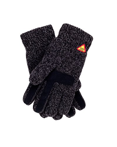 Öjbro Swedish made 100% Merino Wool Soft Thick & Extremely Warm Suede Touch Screen Gloves (as Featured by the Raynauds Assn) (Karg Rörö, Large)