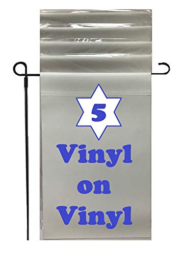 Vinyl Banner Garden Flags, Blank Signs, for Adhesive Vinyl, Heat Transfer (HTV), or Flag Crafts for Kids to Decorate. Indoor, Outdoor, Special Even Flags to Customize. Blank, White Vinyl Material 5