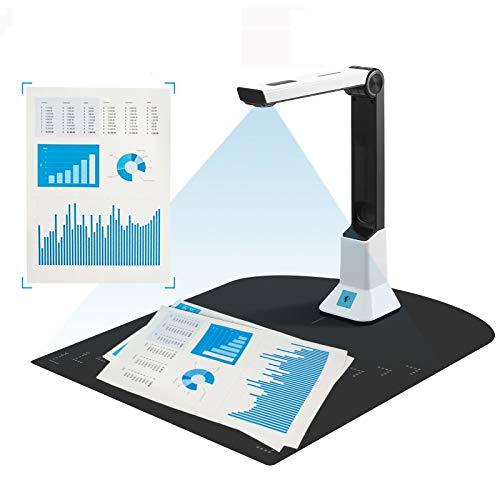 SEAAN- Buch- und Dokumentenkamera, 8 MP, hochauflösender, tragbarer Buch-Dokumentenscanner mit maximaler Größe A4, mehrsprachiger OCR, USB, für Klassenzimmer, Büro, Bibliothek ( weiche Matte )
