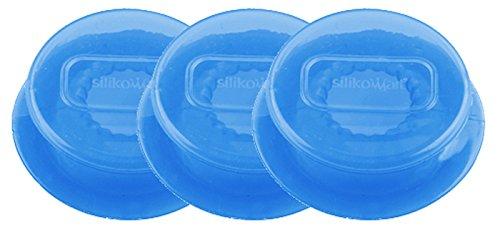 Capflex S, Set de 3 Tapas de Silicona, Color Azul traslúcido