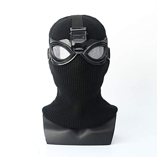 YK Spider-Man: Far from Home Mask Head Cover Black Mask Shadow Sneak Battle Suit Cosplay Spider-Man (Black)