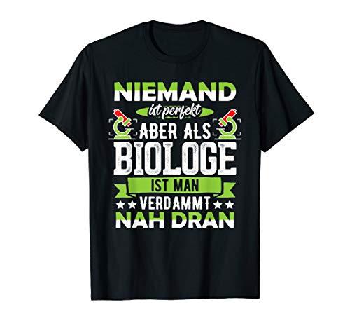 T-Shirt Biologie Biologe Mikroskop Lehrer Spaß Witz Spruch T-Shirt