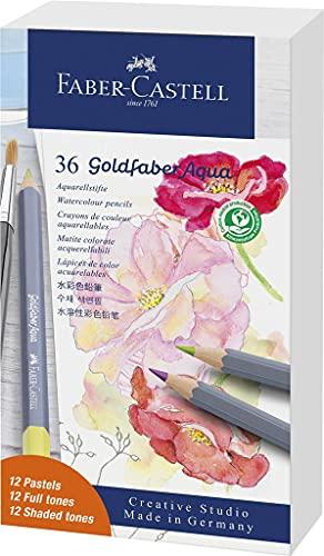 Faber-Castell Lápices de acuarela Goldfaber Aqua Lata de 36