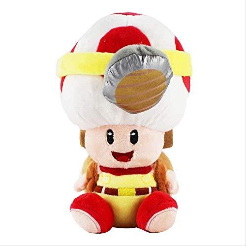 DINGX Super Mario Bros Pilz Toad Plüschtiere 19 cm Captain Toad Treasure Tracker Weiche Gefüllte Spielzeug Kinder Geschenk Chuangze