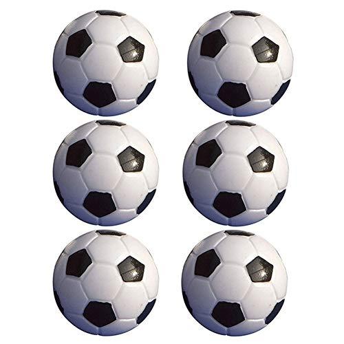 rycnet 6 pelotas de fútbol de mesa de 32 mm, color negro + blanco, accesorios de juguete, regalo de año nuevo, color negro + blanco