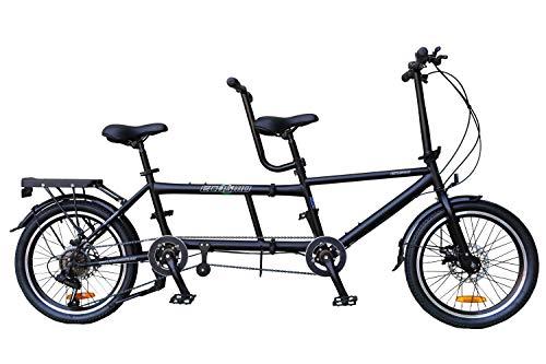 """ECOSMO 50,80 cm (20"""")-Bicicletta pieghevole da città 7SP 20TF01BL-Tandem"""