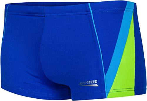Aqua Speed Diego Baúles de baño para niños | protección contra los Rayos UV | cordón de Ajuste | 14. Azul Marino/Azul/Verde | Tamaño: 158 cm