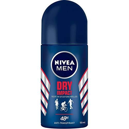 NIVÉA - FOR MEN - Déodorant Bille Dry Impact 50Ml - Lot De 4 - Vendu Par Lot