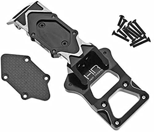 Hot Racing YEX331G01 Aluminum and Carbon Fiber Front Bulkhead and Skid Plate - A by Hot Racing